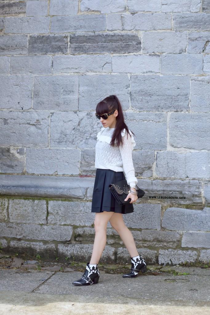 pull blanc maje paris en crochet
