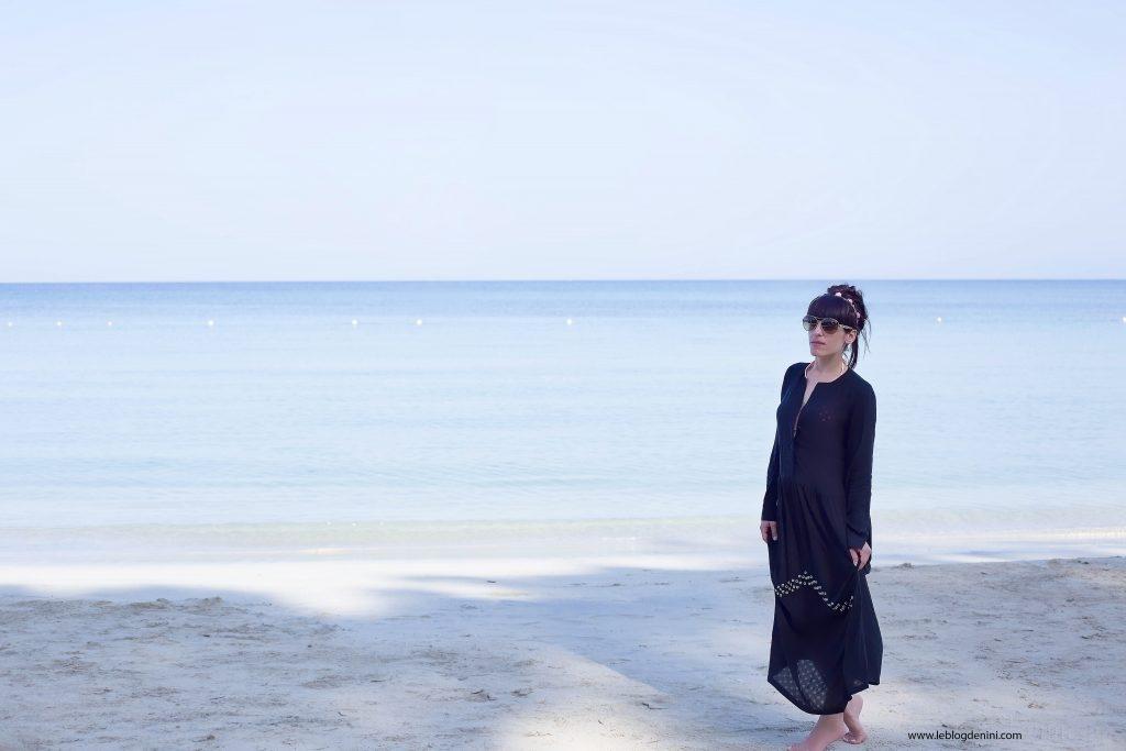 negril jamaica robe noire sandro paris