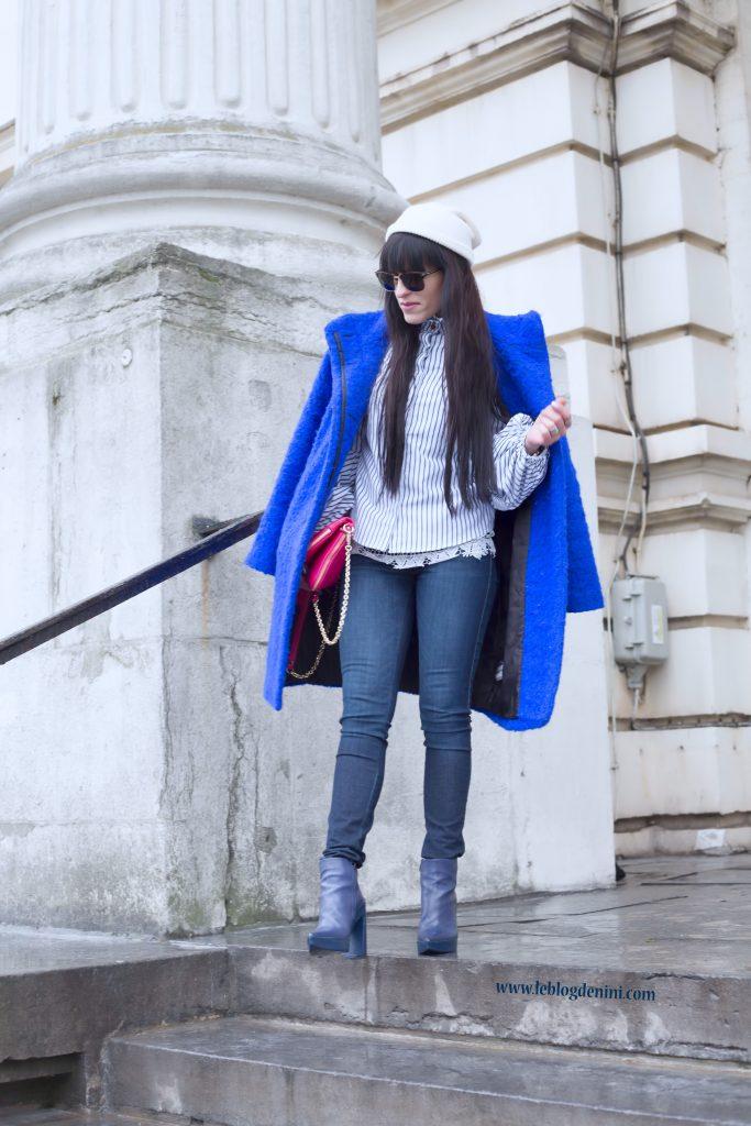 jeans diesel et boots bleues vic matie