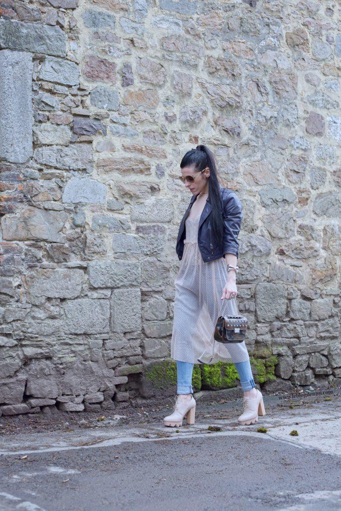 robe primark transparente sur jeans