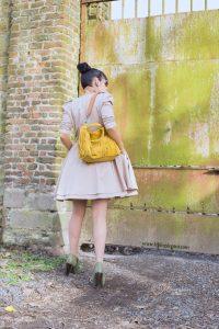 sac jaune à franges