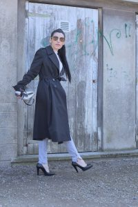BLACK TRENCH COAT CLAUDIE PERMOT PLACE DES TENDANCES