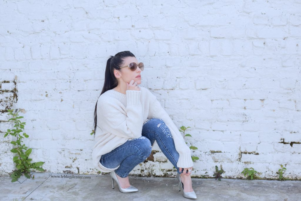 fashion blog with zara knit