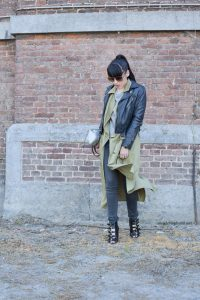 leather jacket MAJEPARIS