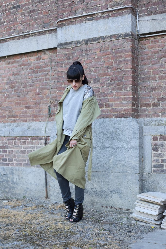 trench coat green zara