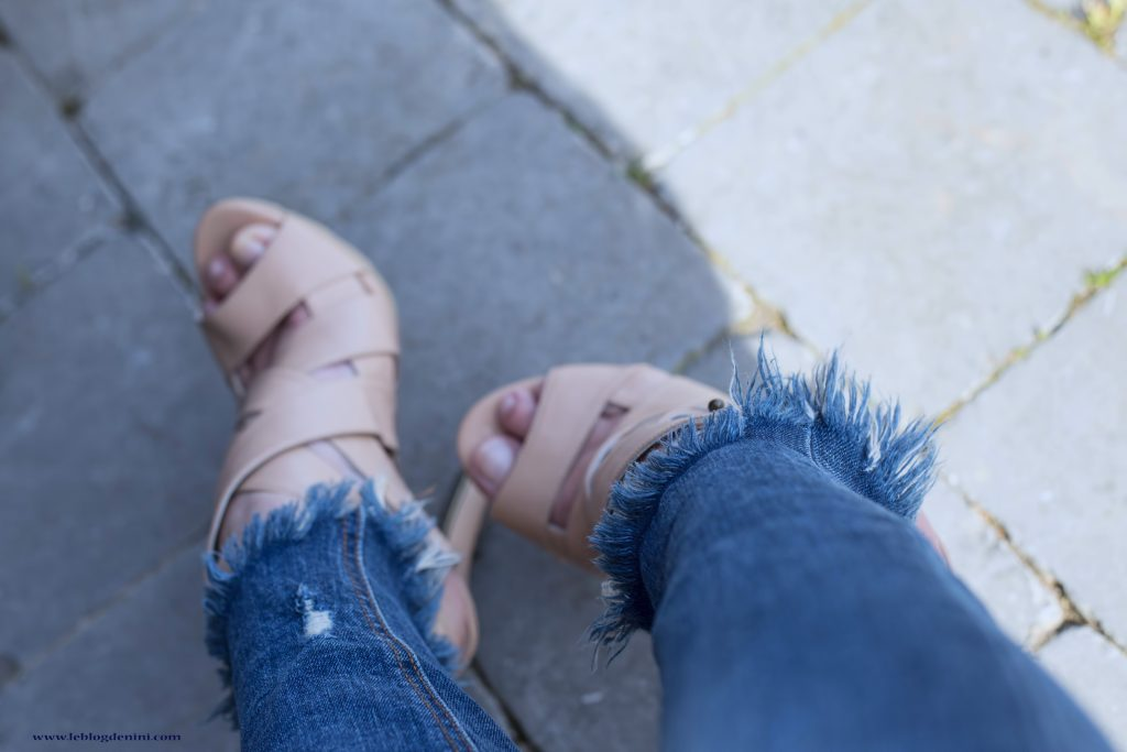 zara fringes denim