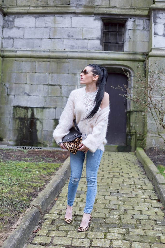escarpins léopard et jeans zara