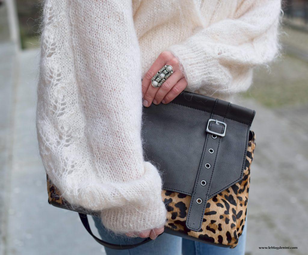 pochette IKKS léopard