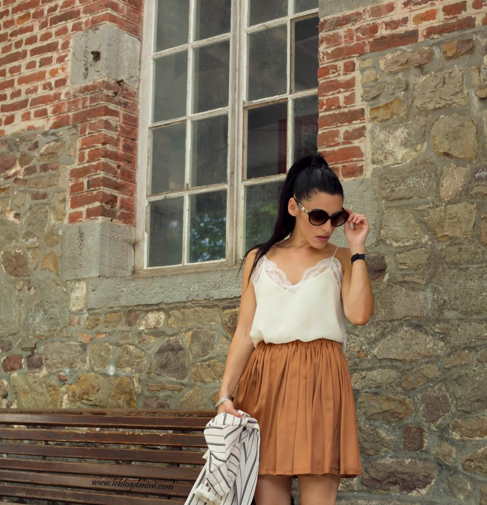 diy skirt & zara top