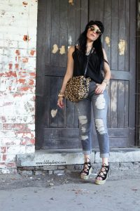 style with destroyed denim