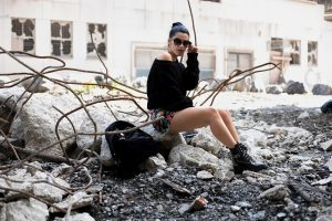 backpack sandro paris & boots the kooples