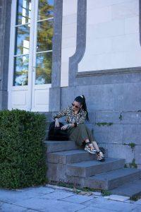 skirt asos and esmera leopard jacket bl