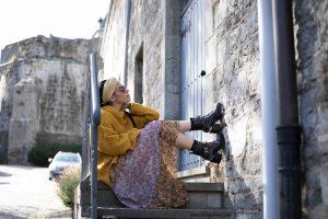 skirt zara ans boots the kooples