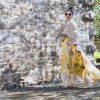 yellow flowers skirt chicwish